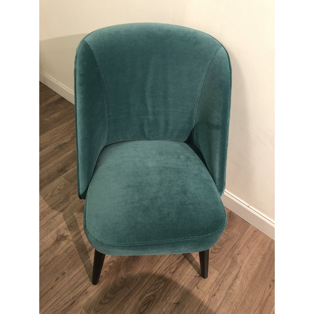 Turquoise Room and Board Custom Dining Chairs - Set of 4 For Sale - Image 8 of 13