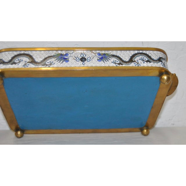 Blue & White Cloisonne Enameled Desk Set - Image 9 of 11