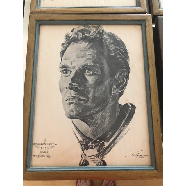 Framed Portraits of Oscar Winners From 1928-1961 - Set of 25 For Sale - Image 4 of 10