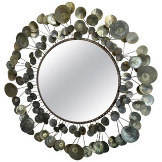 1968 Vintage Curtis Jere Raindrops Mirror For Sale
