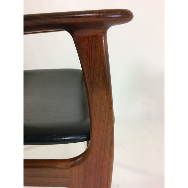 Wood Mid-Century Modern Erik Buch Armchair in Rosewood, Inc. Reupholstery For Sale - Image 7 of 10
