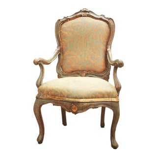 Venetian Painted and Gilded Armchair