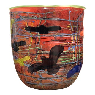 Colorful Blown Glass Basket