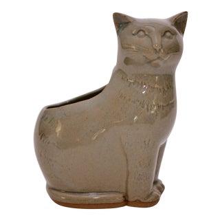 Mid Century Kitty Ceramic Planter For Sale