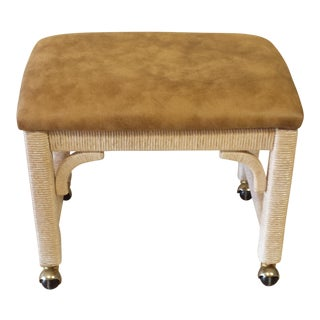 Lexington Henry Link Wicker Footstool/ Ottoman