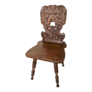 Mid Century North Wind Oak Side or Fireplace Chair (The Greenman) For Sale