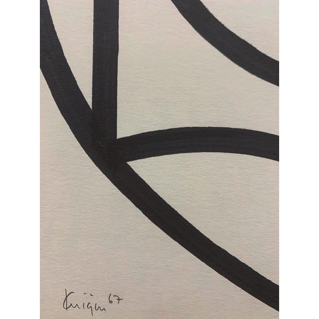 Abstract Original Mid Century Ink Brush Abstract 18 Michael Knigin Early Work For Sale - Image 3 of 4
