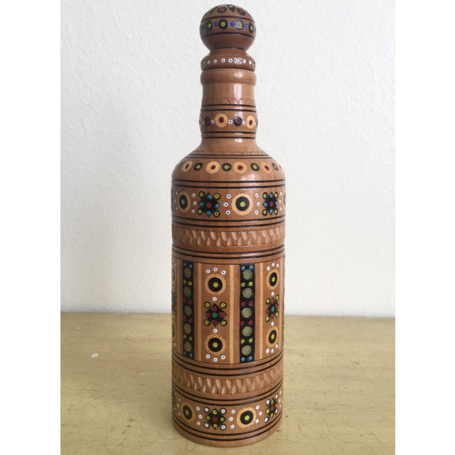 Bohemian Handmade Gypsy Wooden Bottle - Image 2 of 6