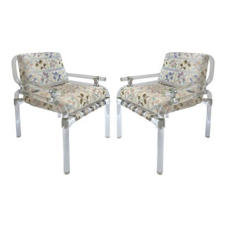 Jeff Messerschmidt Lucite Pipeline Chairs, 4 Pairs Available - a Pair