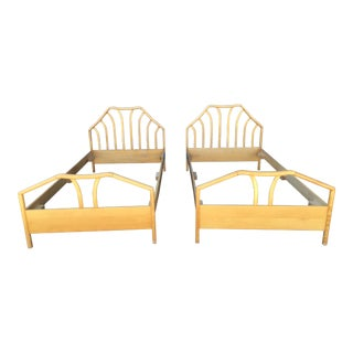 1980s Maple Twin Bedframes - a Pair For Sale