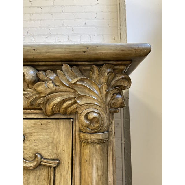 Artifacts International Italian Neoclassical Armoire For Sale - Image 4 of 10