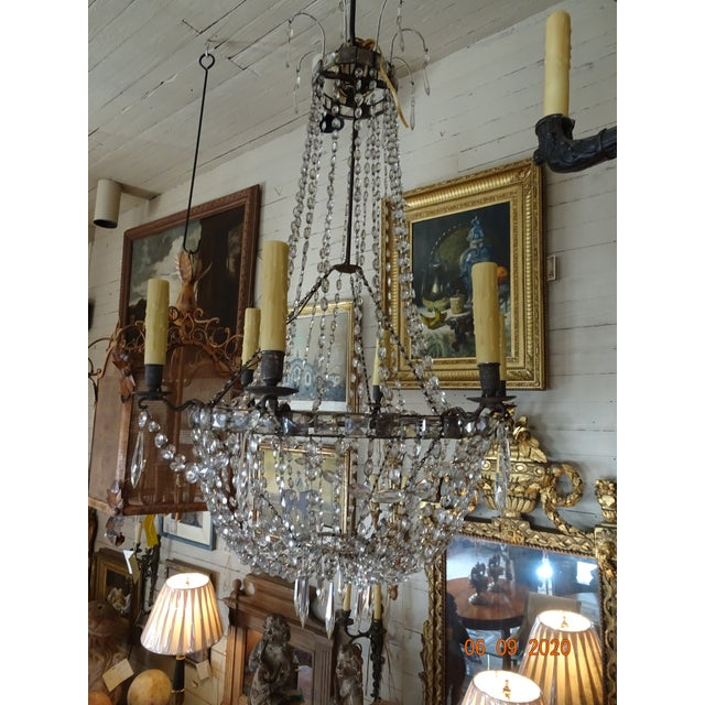 18th Century Empire Crystal Chandelier For Sale In New Orleans - Image 6 of 13