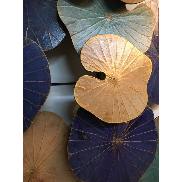 -Please specify which color option you would like in the notes of your order. 42 inch Genuine Lotus leaf wall sculpture...