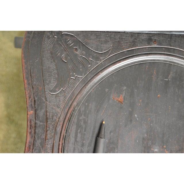 Walnut Italian Renaissance Antique Phoenix Carved Walnut Hall Chair For Sale - Image 7 of 13