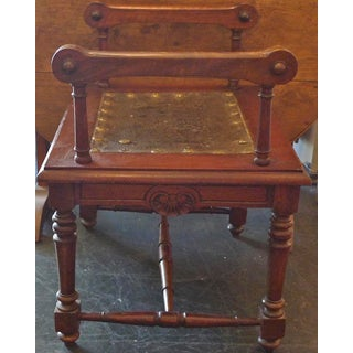 19th Century French Carved and Stained Walnut Stool Preview