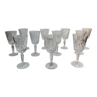 Vintage Lenox Charleston Crystal Wine Glasses - Set of 11 For Sale