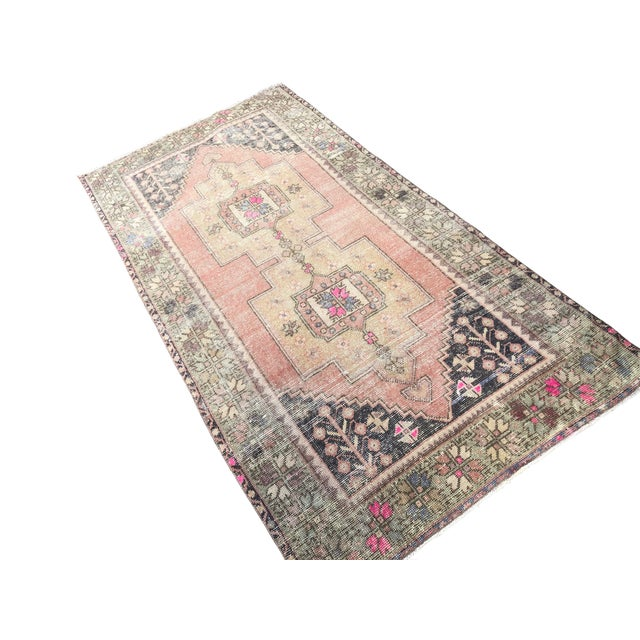 Vintage Anatolian Traditional Decorative Rug. This rug is made of Wool and Cotton.