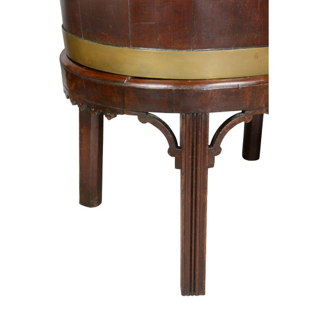 George III Mahogany and Brass Mounted Wine Cooler For Sale In Boston - Image 6 of 11