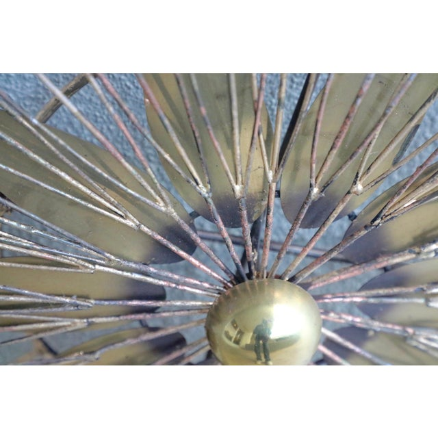 Curtis Jere Signed 1980 Star Blossom Wall Sculpture For Sale - Image 9 of 12