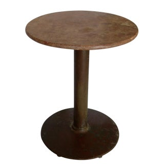Antique Marble Top Cafe Bistro Table For Sale