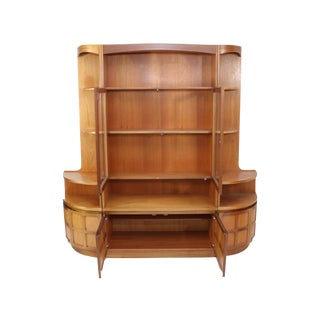 Mid Century Teak Wall Unit by Nathan Furniture For Sale