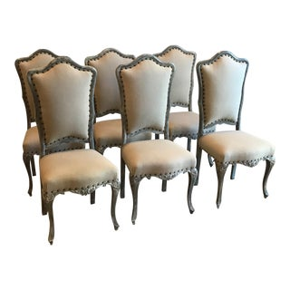 French Louis XVI Style Dining Chairs - Set of 6
