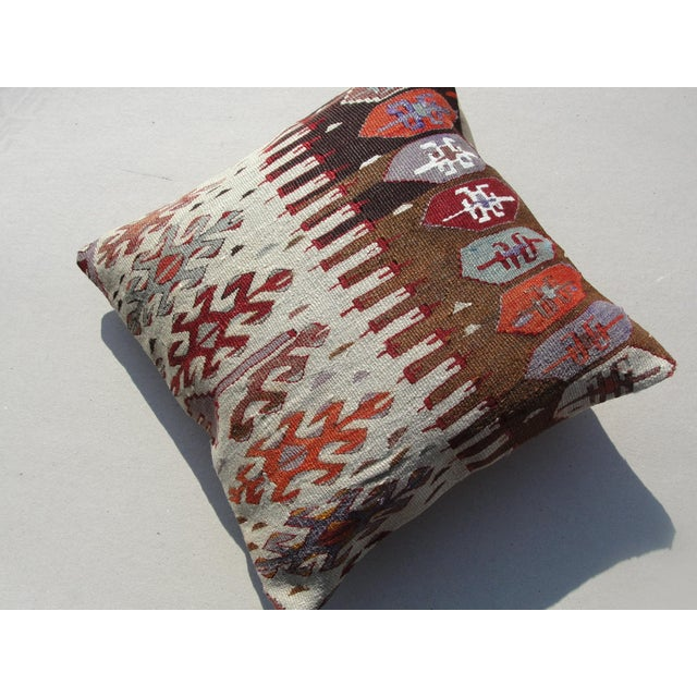 Textile Kilim Rug Pillow For Sale - Image 7 of 11