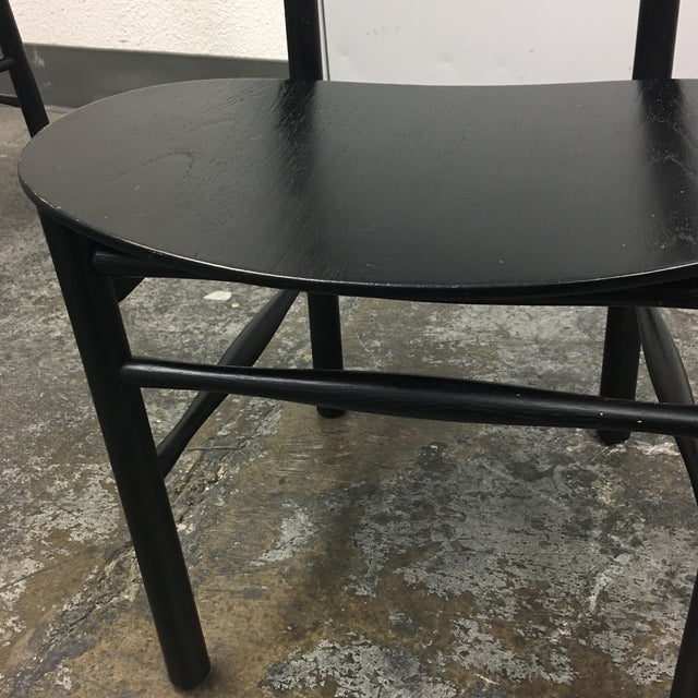 Mid-Century Style Black Dining Chairs - Set of 4 - Image 7 of 7
