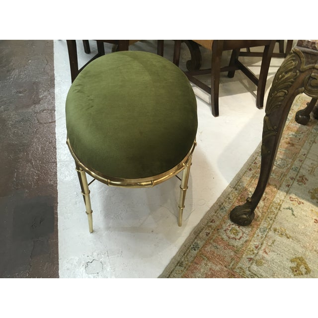 Mastercraft Brass Faux Bamboo Benches - a Pair For Sale - Image 9 of 10