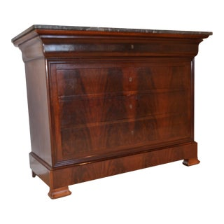 French Mahogany Louis Philippe Commode For Sale