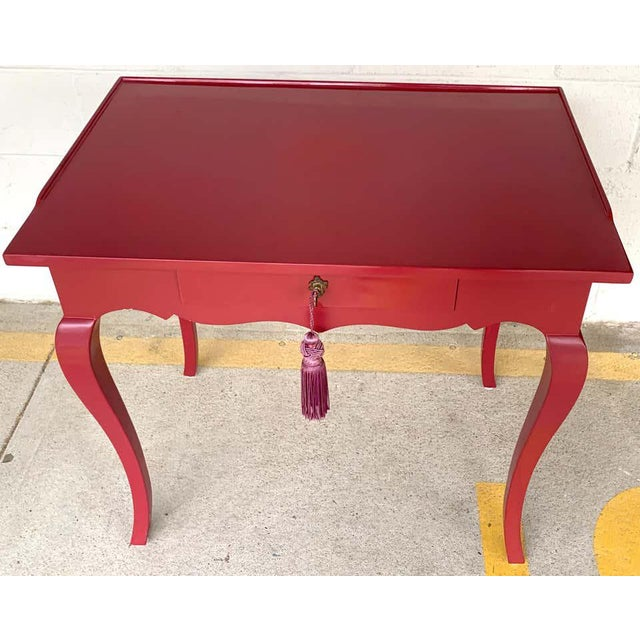Late 20th Century Bold Mauve Lacquered End/ Nightstands Tables For Sale - Image 5 of 10