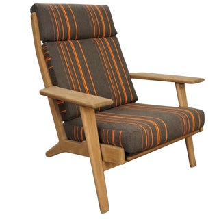 Hans Jorgen Wegner Ge 290 Oak Lounge Chair For Sale