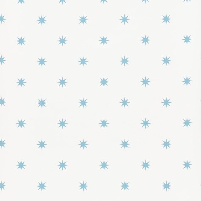 Schumacher Stargaze Wallpaper in Blue For Sale
