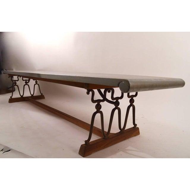 "Brown John Van Koert for Drexel ""Casa Del Sol"" Bench Coffee Table For Sale - Image 8 of 10"