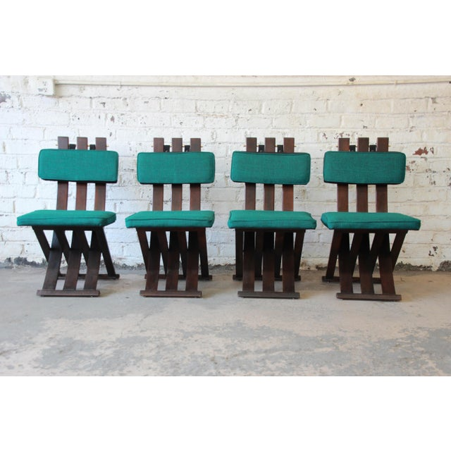 Mid-Century Modern Harvey Probber Mid-Century Modern X-Base Dining Chairs - Set of 4 For Sale - Image 3 of 11