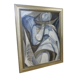 1990s Terry Frid Figurative Abstract Painting For Sale