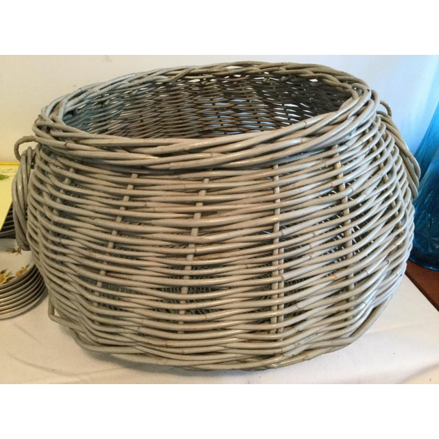 1990s Decorative Basket With Handles For Sale - Image 5 of 10