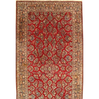 """Pasargad N Y Antique Persian Hand Knotted Sarouk Rug - 9'3"""" X 17'8"""" For Sale"""