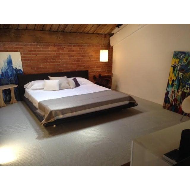 King Size Leather Platform Bed - Image 9 of 9
