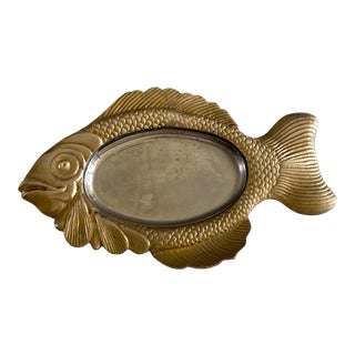 Mid Century Brass Fish Catchall For Sale