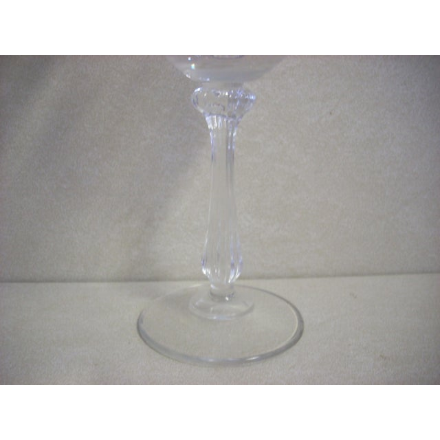 Mikasa Mikasa Gold Rim and Brocade Etching Crystal Wine Goblets - Set of 10 For Sale - Image 4 of 5