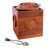 Image of Jens Quistgaard Cube Ice Bucket With Tongs For Sale
