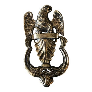1980s Traditional Gold Eagle Door Knocker