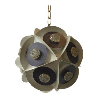 1960s Metal/Plastic Orb Chandelier For Sale