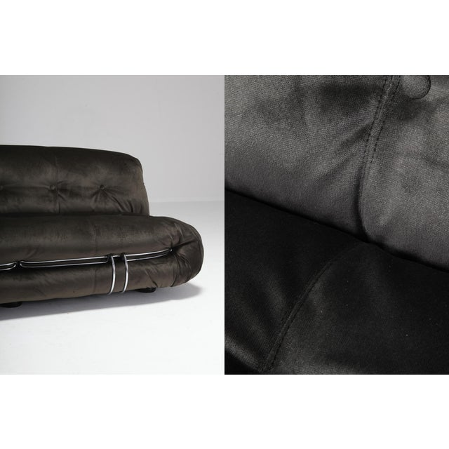 Silver Soriana Two-Seat Sofa by Afra and Tobia Scarpa for Cassina For Sale - Image 8 of 12