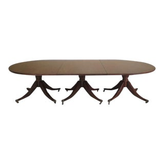 Theodore Alexander Mahogany Banquet Dining Table For Sale