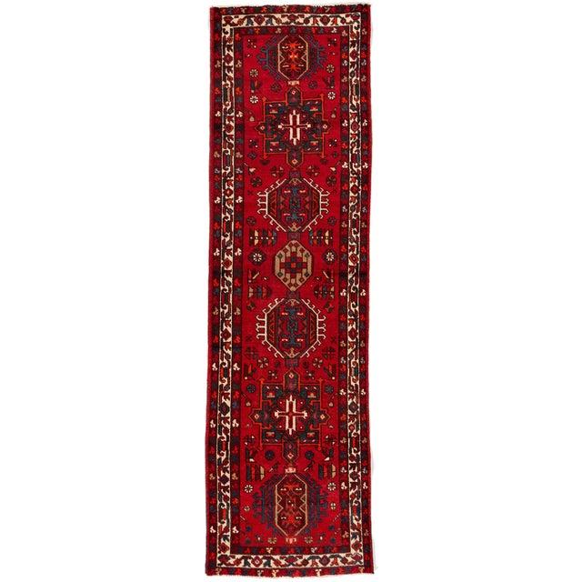 "Apadana - Vintage Persian Heriz Runner Rug, 3'1"" X 10'11"" For Sale"