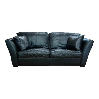 American Leather Black Sofa For Sale