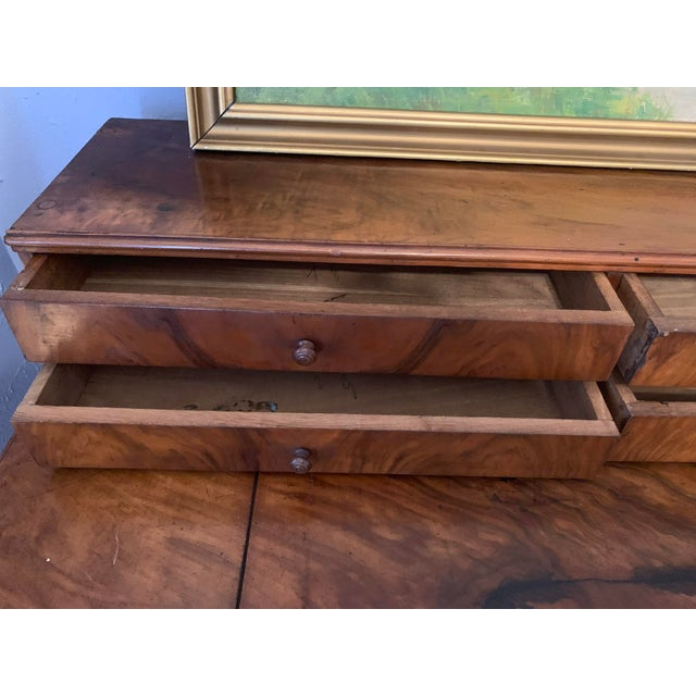 Antique French Louis Philippe Walnut Desk 19th C For Sale In Denver - Image 6 of 12