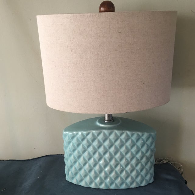 Automax Mid Century Turquoise Lamp - Image 6 of 6